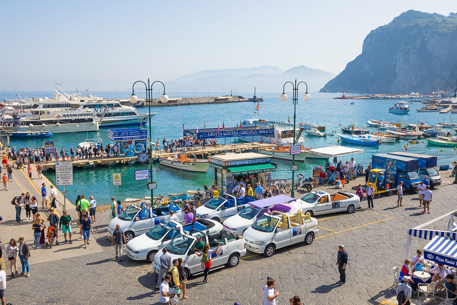 Breathtaking Tours of Capri and Pompeii from Naples or Sorrento in just one day
